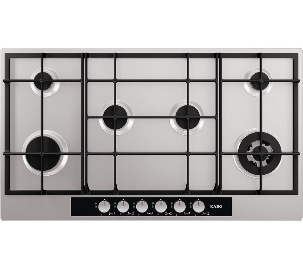 AEG  HG956440SM Gas Hob ? Stainless Steel Stainless Steel