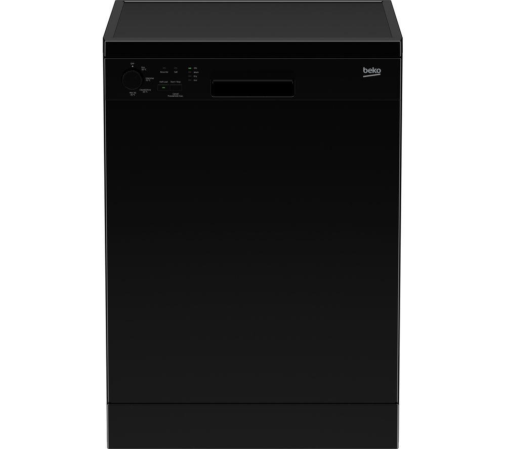 Image of Beko DFC04210B Full-size Dishwasher - Black, Black