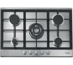 CANDY CPG75SQGX Gas Hob - Stainless Steel
