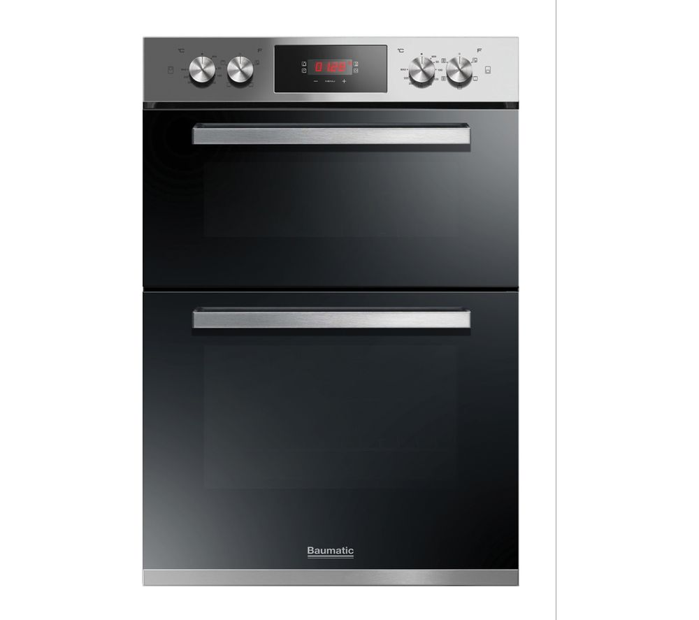 buy baumatic bodm984x electric double oven stainless steel free delivery currys. Black Bedroom Furniture Sets. Home Design Ideas