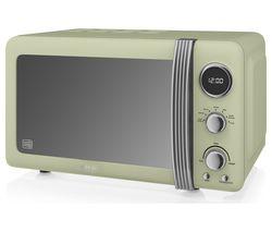 SWAN Retro SM22030GN Solo Microwave - Green