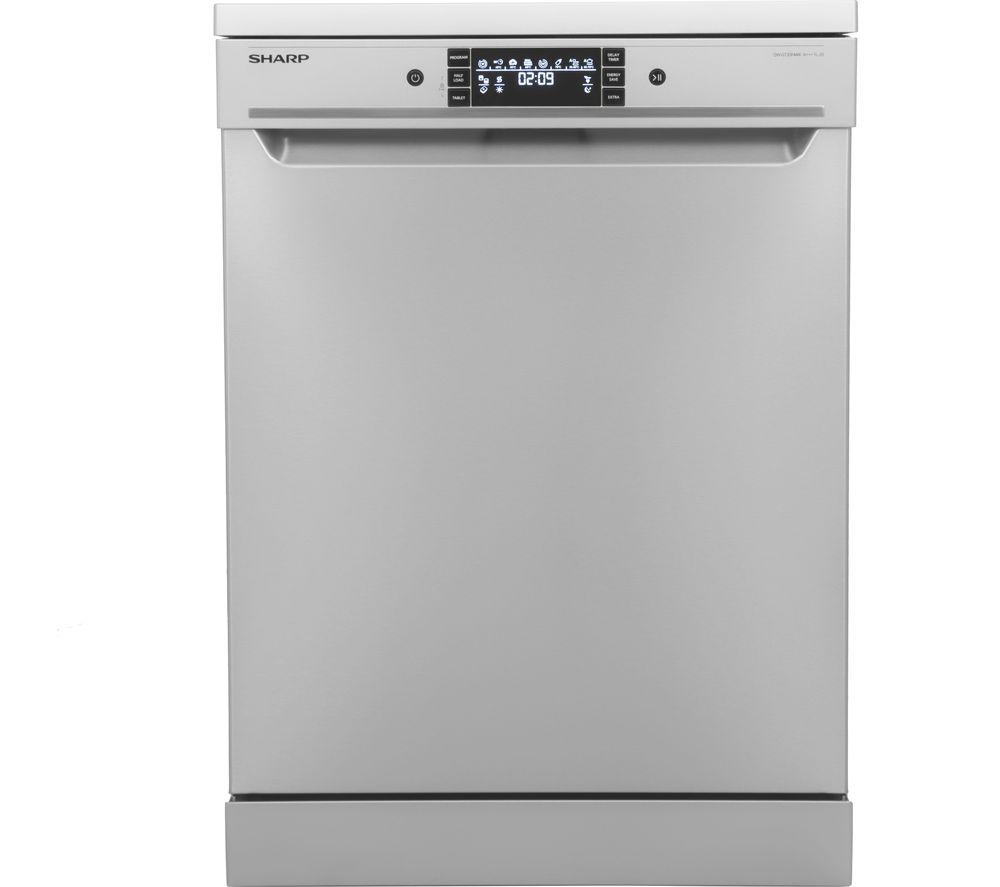 sharp qw gt24f463w en. sharp qw-gt35f444i full-size dishwasher - stainless steel, steel qw gt24f463w en e