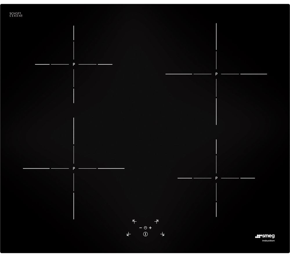 SMEG  SI5643D Electric Induction Hob  Black Black