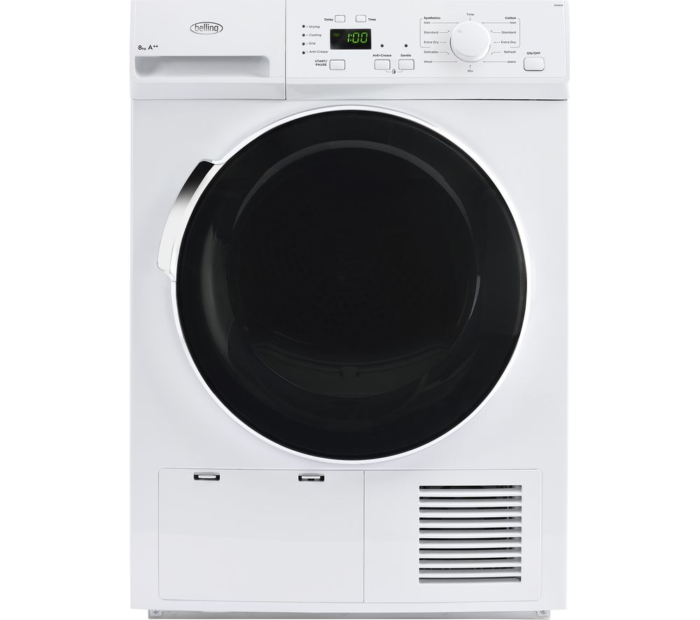 BELLING  BEL FHD800 Heat Pump Tumble Dryer  White White