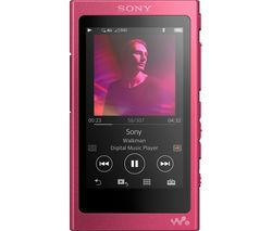SONY Walkman NW-A35 Touchscreen MP3 Player with FM Radio - 16 GB, Pink