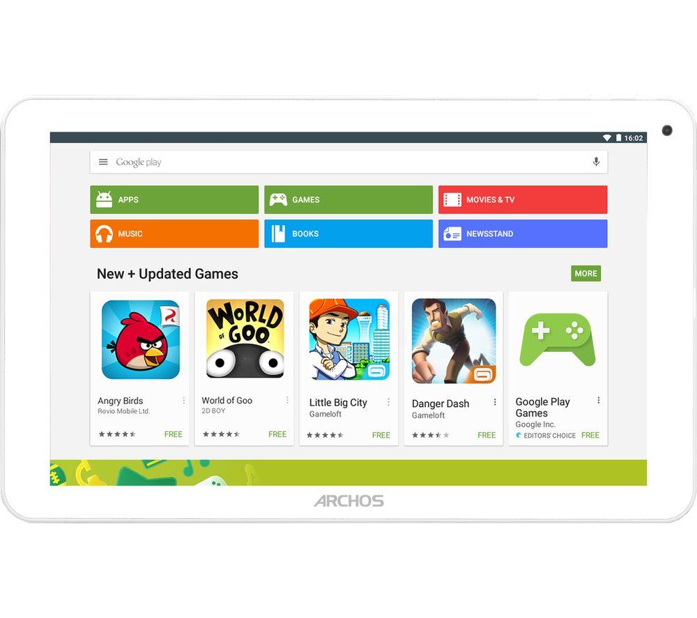 ARCHOS 101e Neon 10.1 Tablet  16 GB White & Grey Neon
