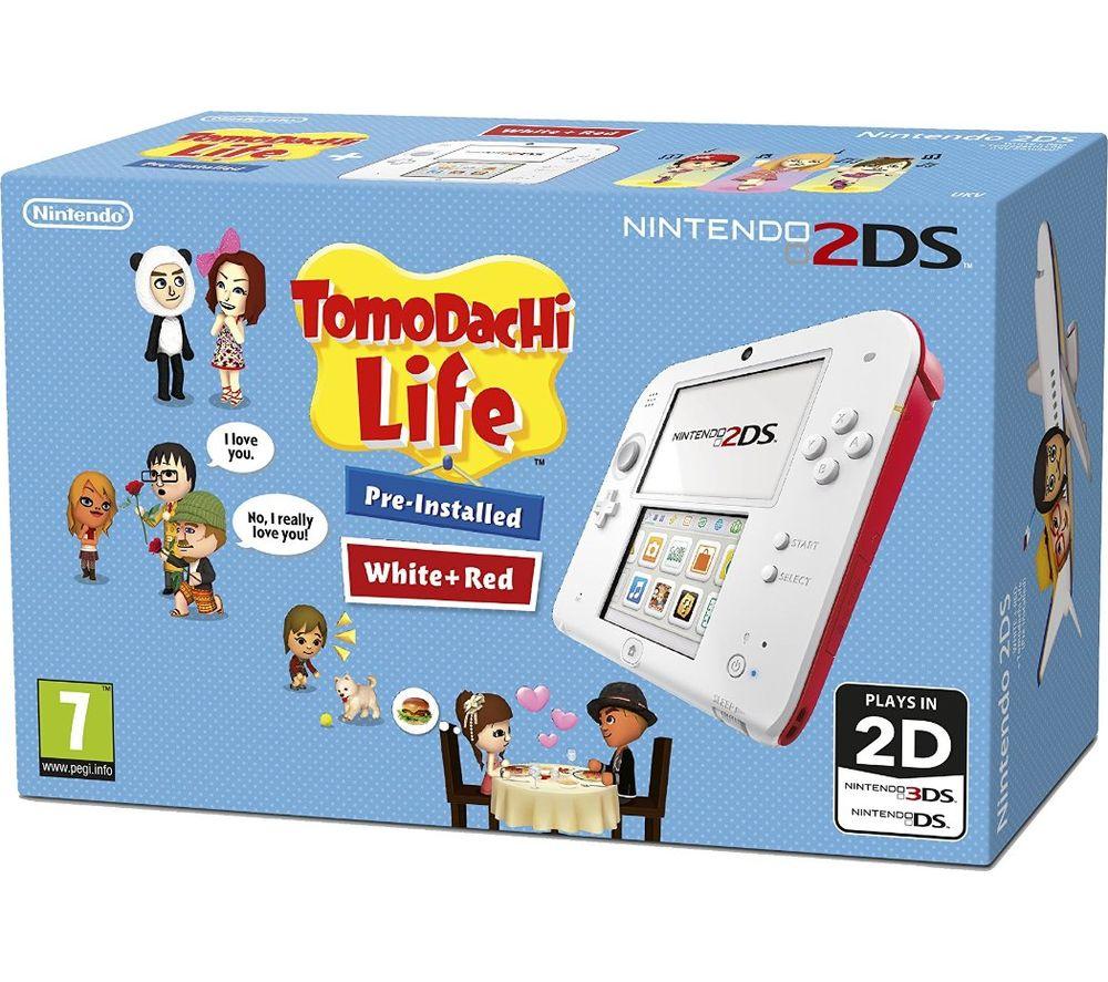 NINTENDO 2DS & Tomodachi Life - Red & White