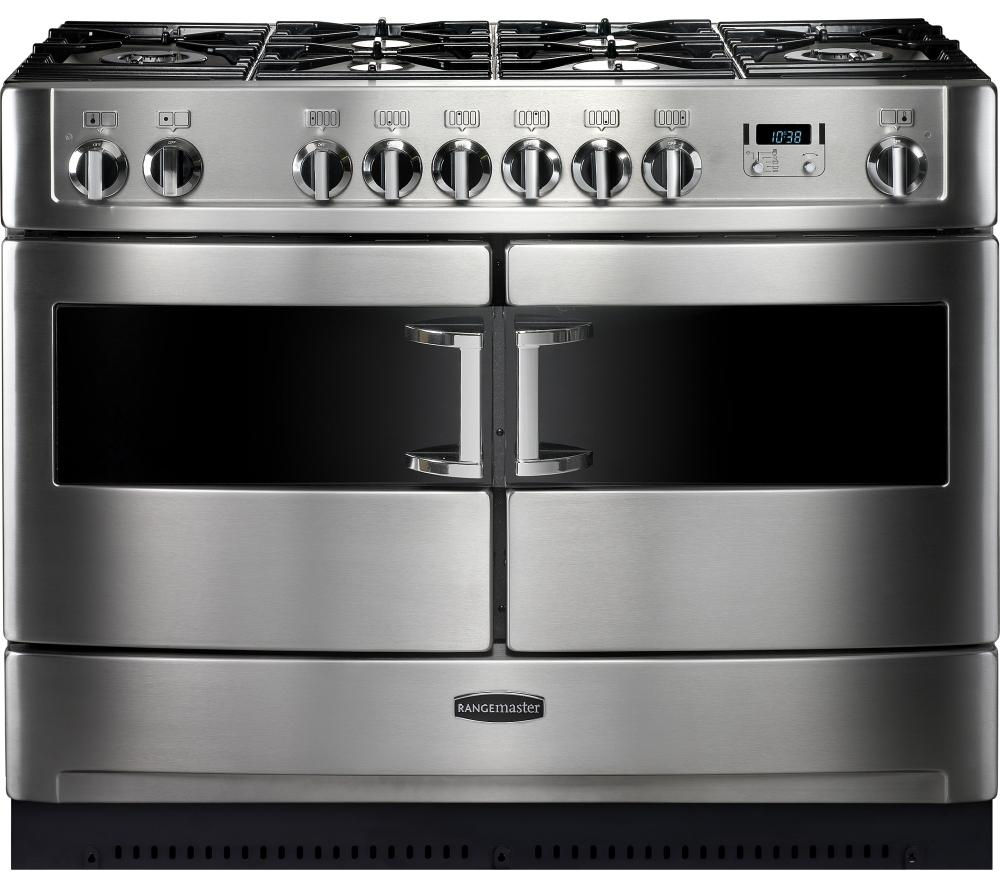 RANGEMASTER Elite SE 110 Dual Fuel Range Cooker - Stainless Steel & Chrome