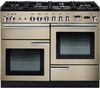 RANGEMASTER Professional+ 110 Dual Fuel Range Cooker - Cream & Chrome