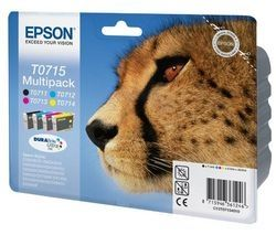 EPSON Cheetah T0715 Cyan, Magenta, Yellow & Black Ink Cartridges - Multipack