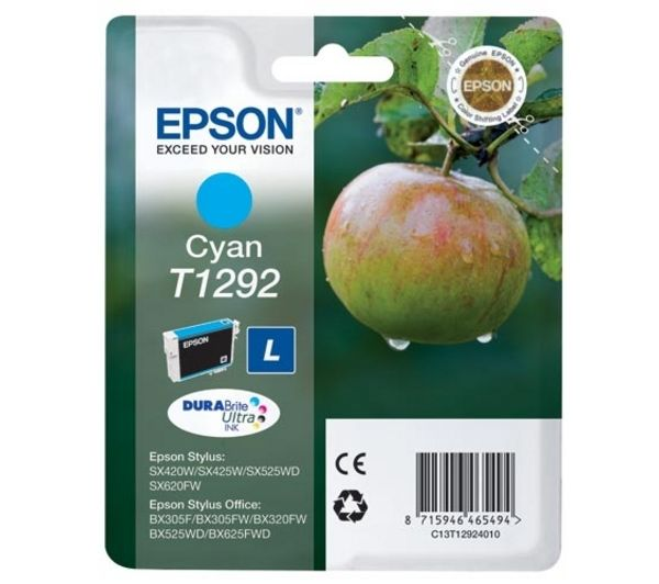 Image of Epson Apple T1292 Cyan Ink Cartridge, Cyan