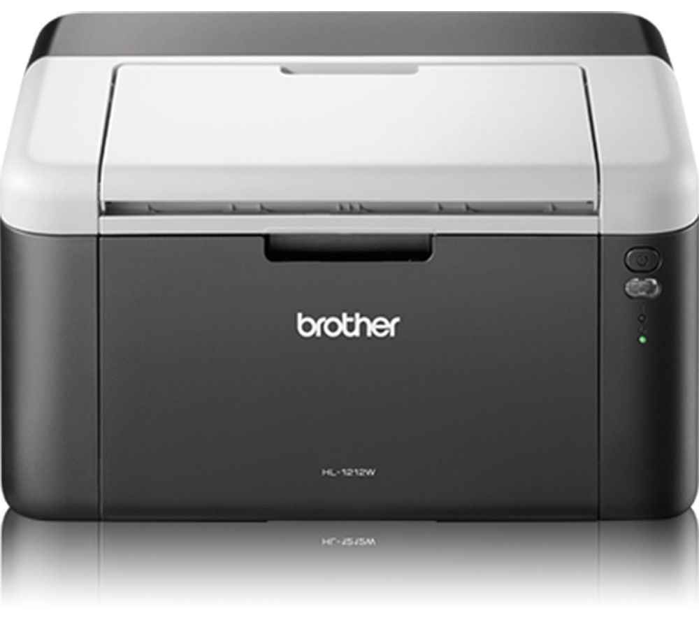 BROTHER HL1212W Monochrome Wireless Laser Printer + TN1050 Black Toner Cartridge + A4 Premium Black Label Paper - 500 Sheets