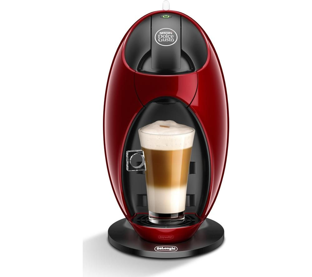 by De'Longhi Jovia EDG250.R Hot Drinks Machine - Red + XB201000 Dolce Gusto Pod Holder - Chrome