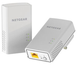 NETGEAR PL1200 Powerline Adapter Kit - Twin Pack