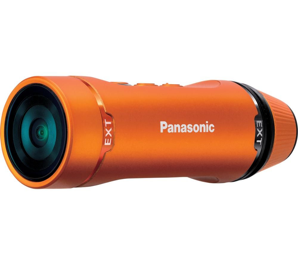 Panasonic HX-A1ME Ultra Compact Wearable Camcorder in Orange - Manufacturer Refurbished