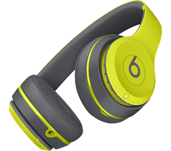 Image of BEATS Solo 2 Wireless Bluetooth Headphones - Active Collection, Yellow