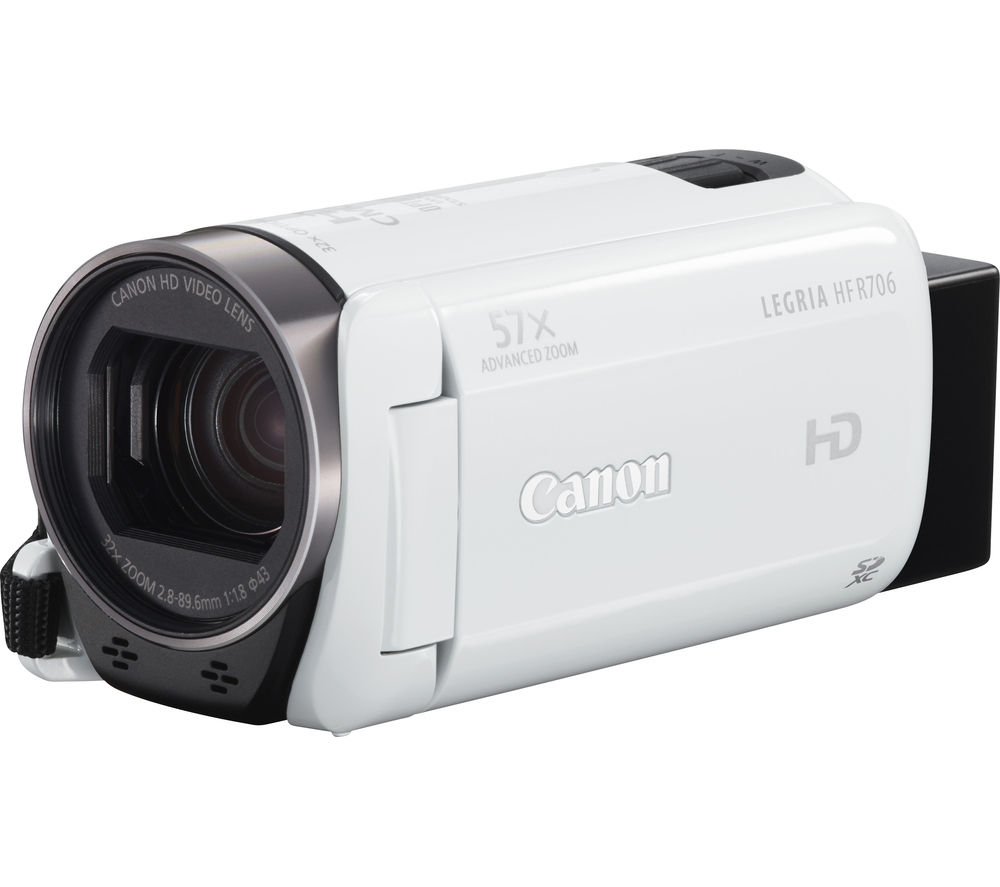 CANON LEGRIA HF R706 Full HD Traditional Camcorder - White