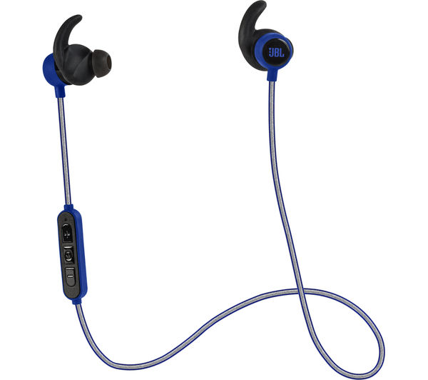 Image of JBL Reflect Mini BT Wireless Bluetooth Headphones - Blue