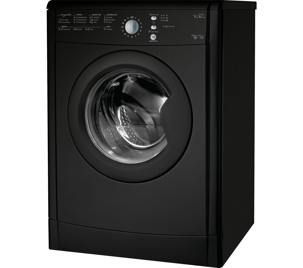 INDESIT  EcoTime IDVL75BRK Vented Tumble Dryer  Black Black