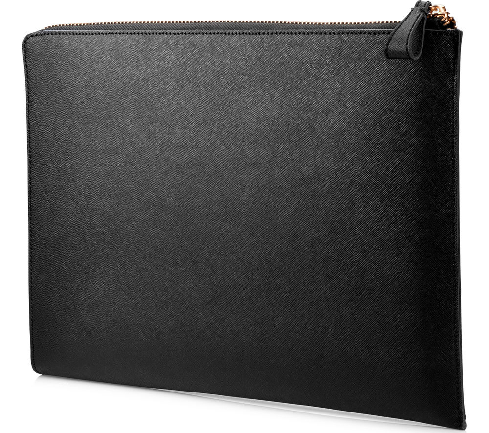 "Image of HP Spectre 13.3"" Leather Laptop Sleeve - Black"