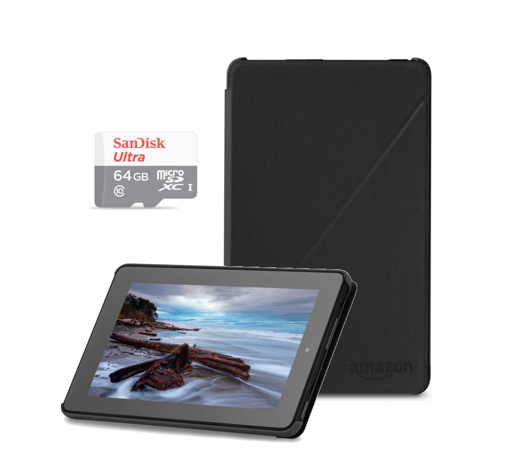 "Image of Amazon Fire 7"" Tablet Bundle - 16 GB, Black"