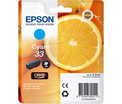 EPSON No. 33 Oranges Cyan Ink Cartridge