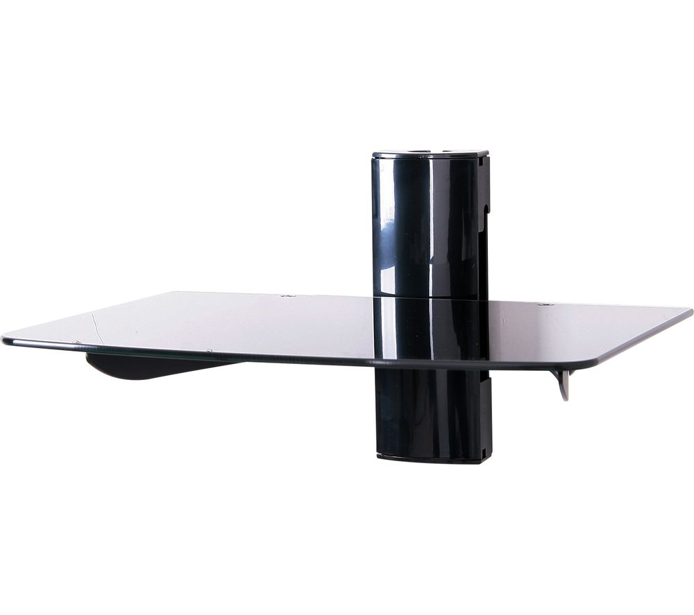 TTAP TTD-1 Single Glass Wall Shelf - Black