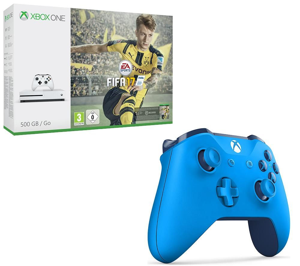microsoft xbox one s fifa 17 wireless controller bundle. Black Bedroom Furniture Sets. Home Design Ideas