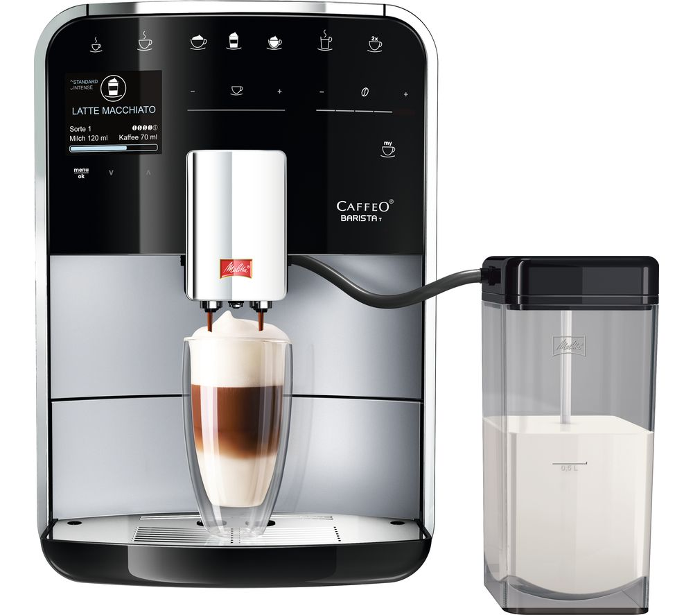 MELITTA Caffeo Barista T F730-201 Bean to Cup Coffee Machine - Silver & Stainless Steel