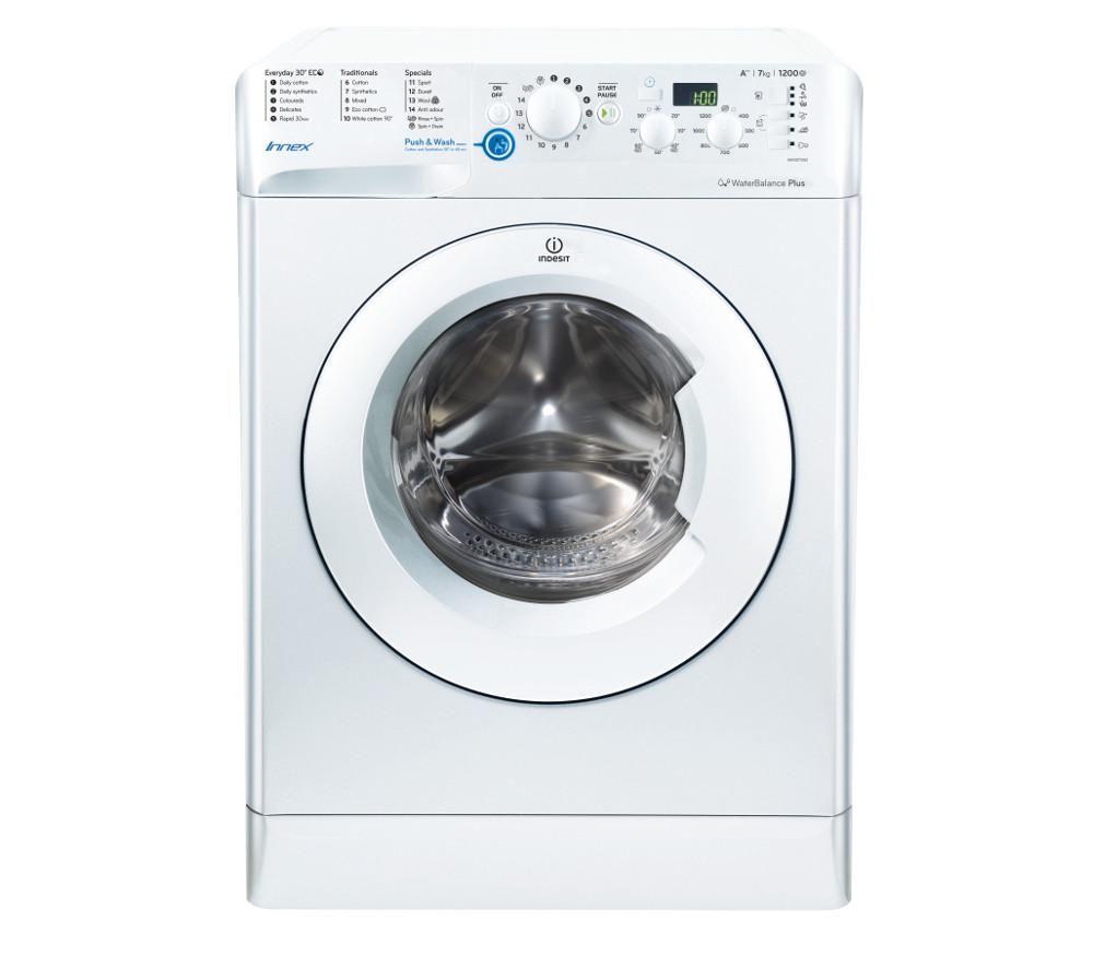 buy indesit innex bwsd 71252 w washing machine white. Black Bedroom Furniture Sets. Home Design Ideas