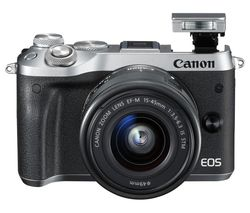 CANON EOS M6 Mirrorless Camera with 15-45 mm f/3.5-6.3 Wide-angle Zoom Lens - Silver