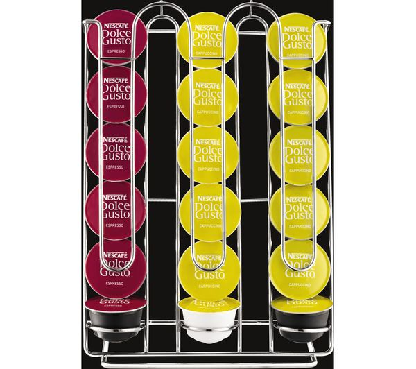 Krups Gusto Coffee Maker Pod Holder : Buy KRUPS XB201000 Dolce Gusto Pod Holder - Chrome Free Delivery Currys