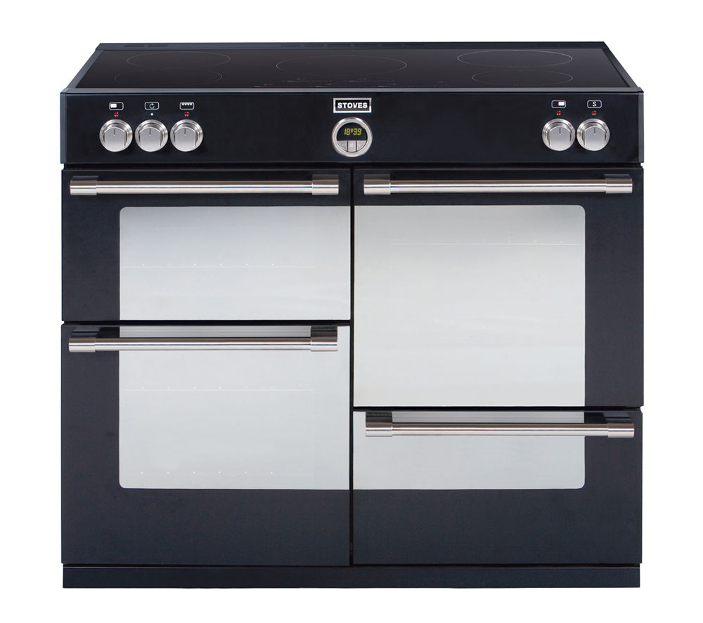 STOVES Sterling 1000Ei Electric Induction Range Cooker - Black