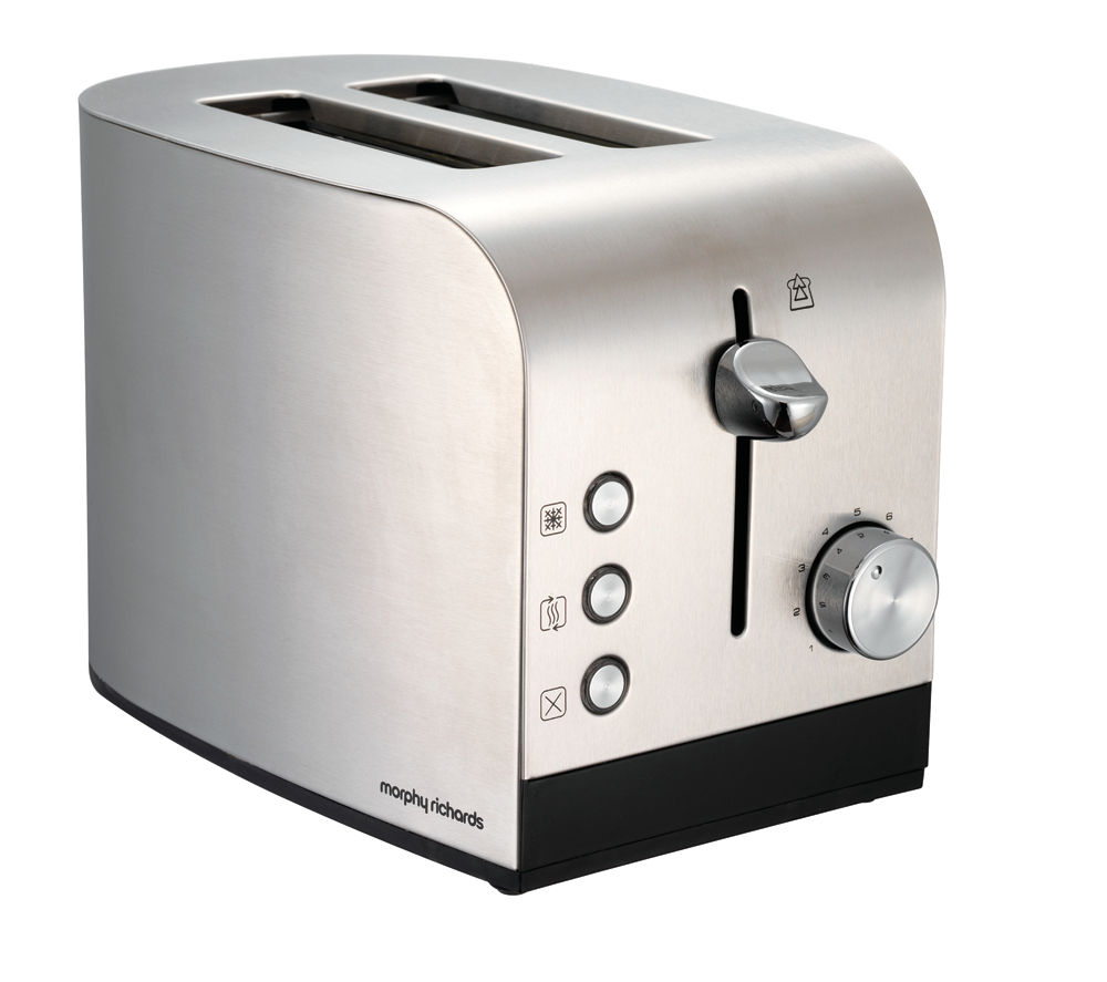 Buy MORPHY RICHARDS Equip 2 Slice Toaster Brushed Stainless Steel Free Delivery