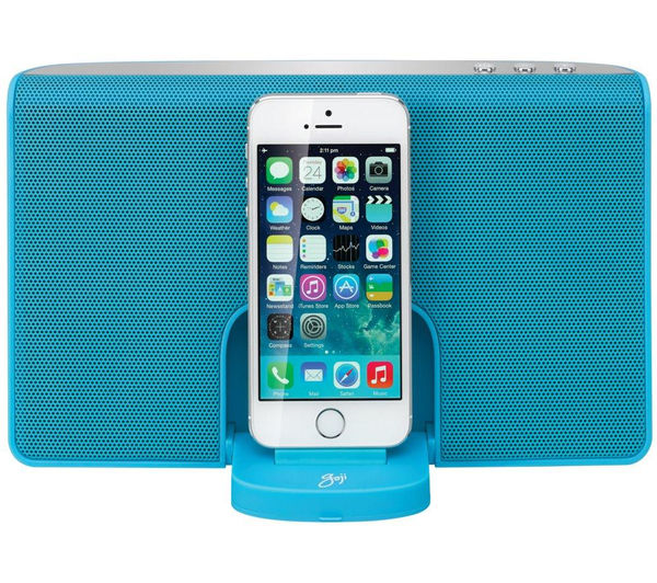 Image of GOJI GRLIN14 Portable Speaker Dock - with Apple Lightning Connector