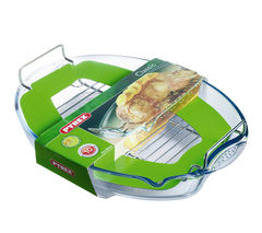 PYREX Easy Grip 42 x 30 cm Roaster with Rack