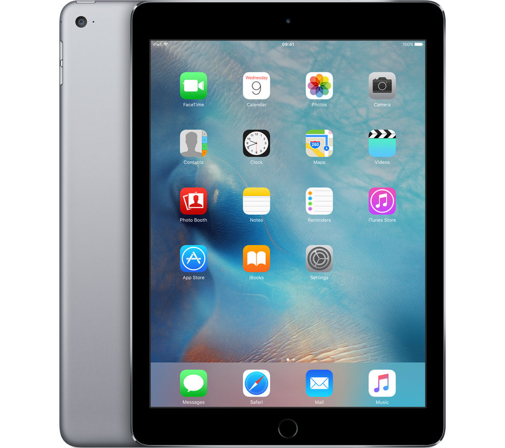 Image of Apple iPad Air 2 - 16 GB, Space Grey, Grey