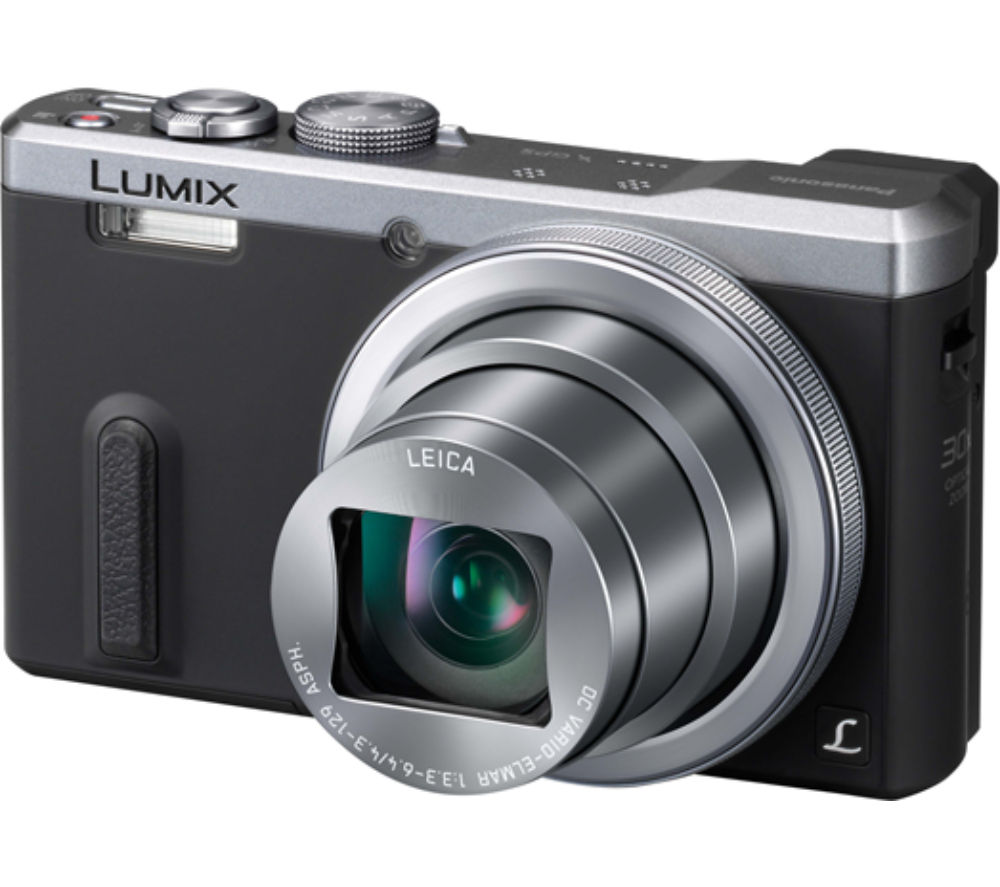 PANASONIC  Lumix DMC-TZ60EB-S Superzoom Compact Camera - Grey +  Tahoe 25 II Camera Case - Black +  Extreme Plus Class 10 SD Memory Card Twin Pack - 16 GB