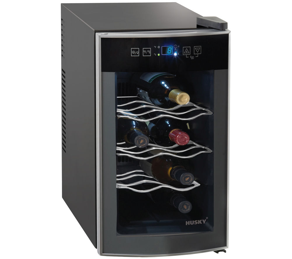 HUSKY  Reflections HUS-HN11 Wine Cooler - Black +  FXS5043S Undercounter Freezer - Silver