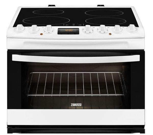 zanussi zci68330wa electric induction cooker white