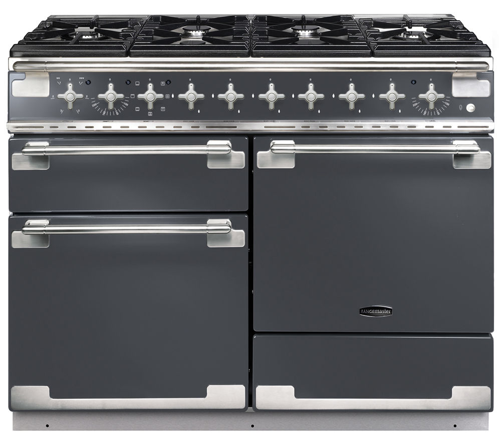 Buy rangemaster elise 110 dual fuel range cooker slate chrome free - Piano induction falcon ...