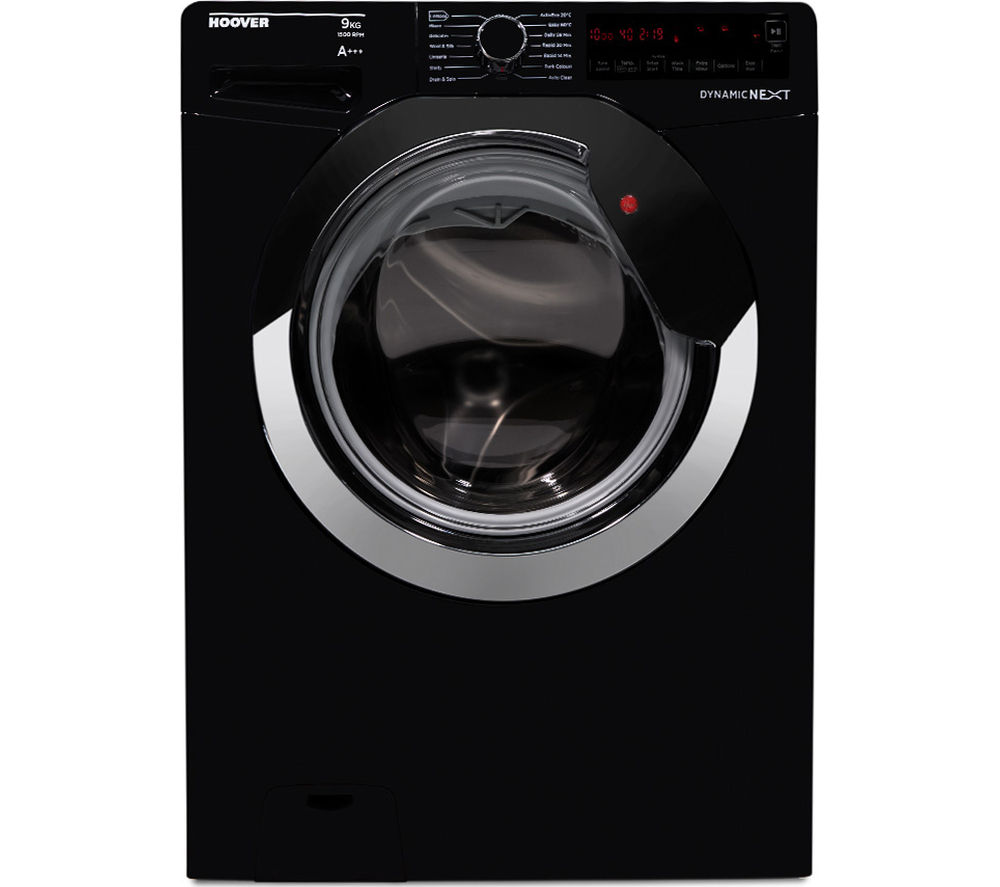 HOOVER  DXA59BC3 Washing Machine  Black & Chrome Black