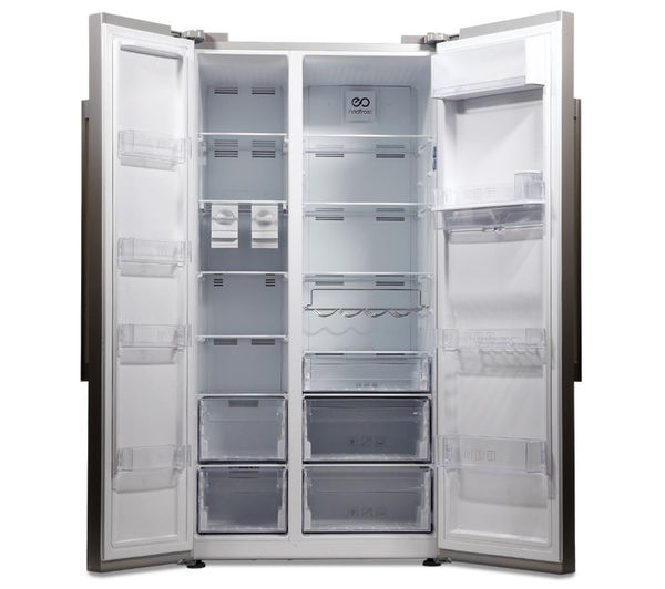 What Is An American Fridge Freezer Part - 28: BEKO ASD241S American-Style Fridge Freezer - Silver