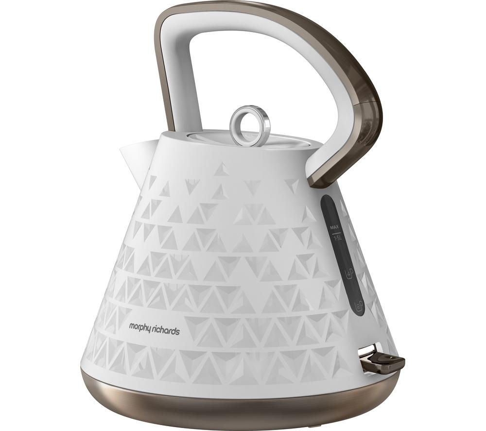 Buy morphy richards 108102 prism kettle white free - Bouilloire design electrique ...