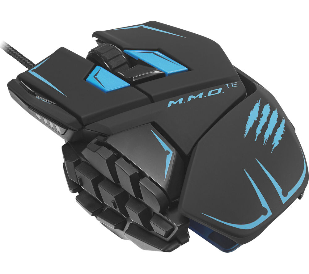 MAD CATZ  M.M.O. TE Laser Gaming Mouse - Black & Blue, Black