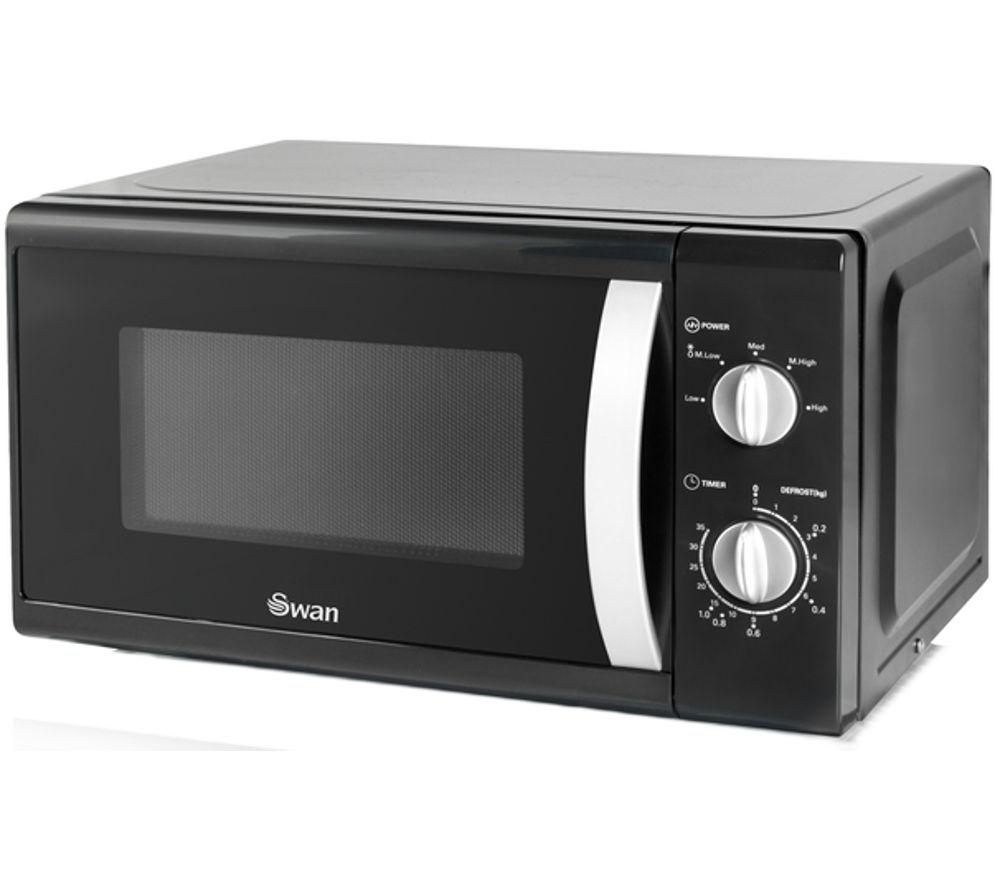 SWAN SM40010BLKN Solo Microwave - Black
