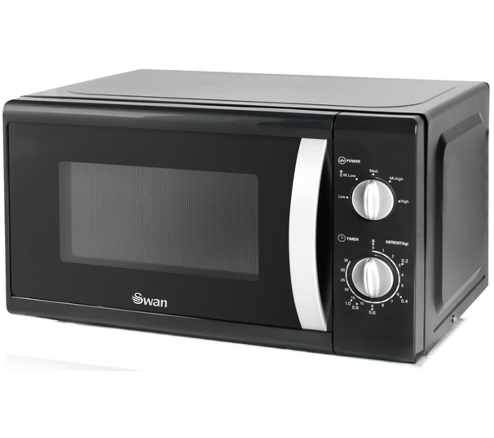 Image of SWAN SM40010BLKN Solo Microwave - Black, Black