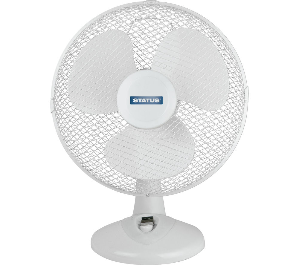 Buy Status 12 Quot Desk Fan White Free Delivery Currys