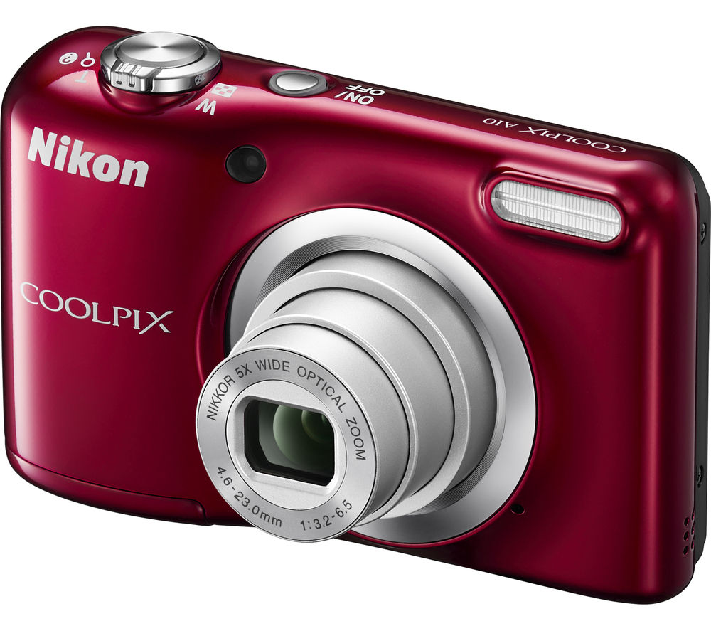 NIKON  COOLPIX A10 Compact Camera - Red, Red.
