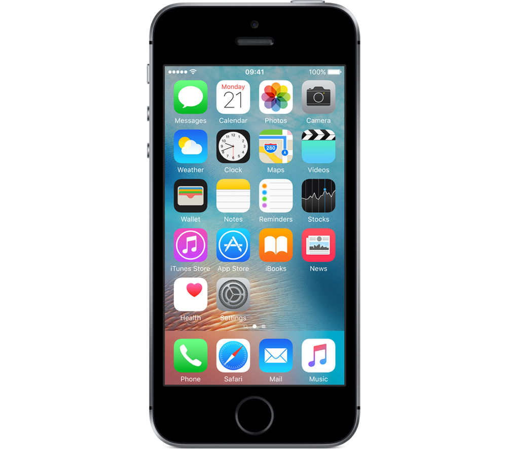 APPLE iPhone SE - 16 GB, Space Grey Deals | PC World: www.pcworld.co.uk/gbuk/phones-broadband-and-sat-nav/mobile-phones...